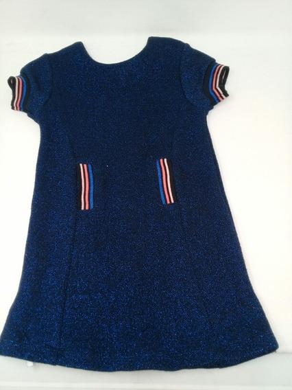 Vestido Niña Pl Kids Destellos Azules. La Segunda Bazar