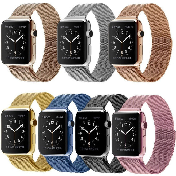 Pack 3 Correas Extensible Acero Milanese Iwatch 38 Y 42mm