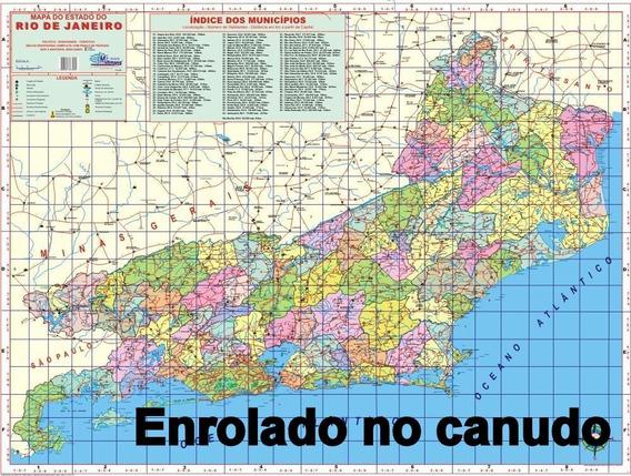 Mapa Gigante Do Estado Do Rio De Janeiro Enrolado No Canudo