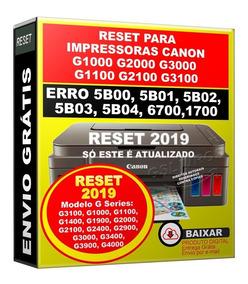 Reset Para Canon G2900 Erro 5b00 5bo2