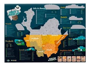 Mapa De Antioquia Para Raspar Mapa Turístico Scratch Poster