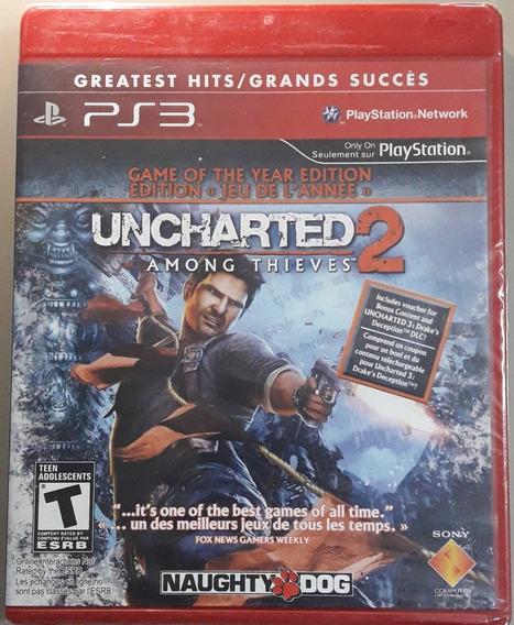 Jogo De Ps3 Uncharted 2 Mídia Física Lacrado