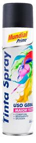 Tinta Spray Preto Fosco 400ml Mundial Prime Kit Com 6 Un