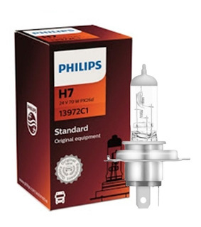 10 Lampadas Philips H7 24v 70w Caminhão Onibus Preço Atacado