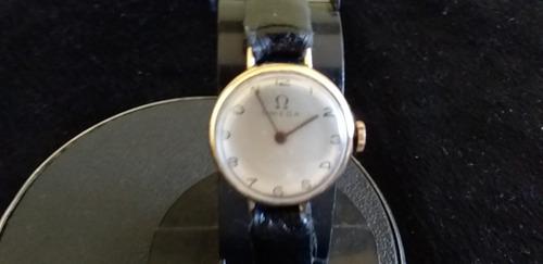 Antigo Relógio Omega De Pulso A Corda Ouro 18- 750
