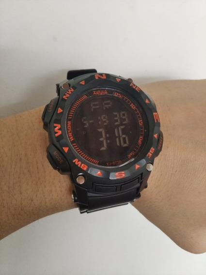 Relógio Masculino Digital Pulseira De Borracha Xinjia Xj 873
