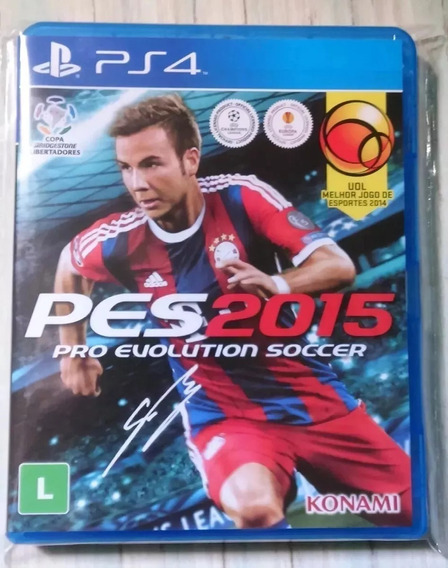Pes 15 - Ps4 Pt-br Capa Box Bluray