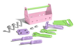 Juego De Herramientas Green Toys, Color Rosa, Caja Cerrad