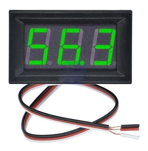 Voltimetro Verde Digital Gabinete Dc 0-99v 3 Dígitos Arduino