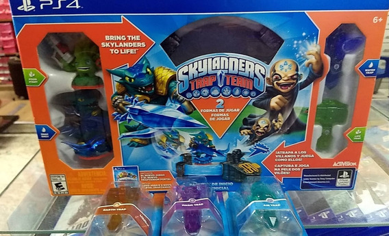 Ps4 Skylanders Trap Team Pt Br + 3 Traps