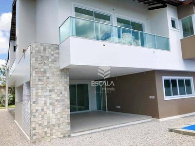 Casa Duplex Com 6 Quartos À Venda, 487 M², 4 Vagas - Alphaville Fortaleza - Eusébio/ce - Ca0272