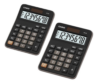 Pack X2 Calculadora Casio Calculadoras De Escritorio Mx-8b