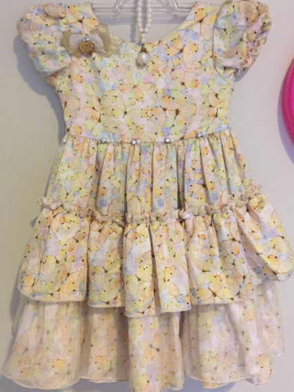 Vestido Fino Infantil Cattai Tam 3