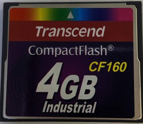 Cartão Memória Compact Flash Cf160 Transcend Industrial 4gb