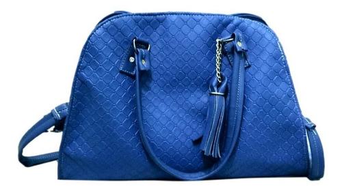 Imagen 1 de 2 de Bolso Karina Color Azul Grande Premium