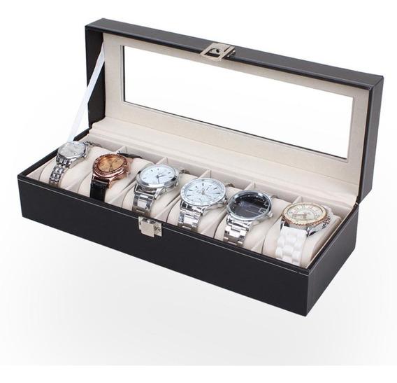 Estuche Relojes Caja Exhibidor Alajero Reloj 6 Piezas