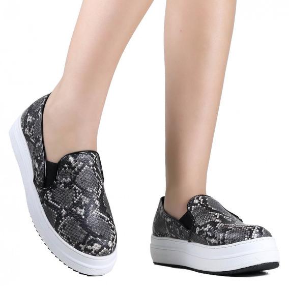 Tênis Feminino Zariff Shoes Flatform Tratorado