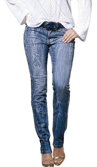 Calça Jeans Feminina Skinny Manchada Cintura Alta 38 Até 44