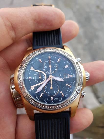 Hermoso Reloj Bulova Con Diamantes