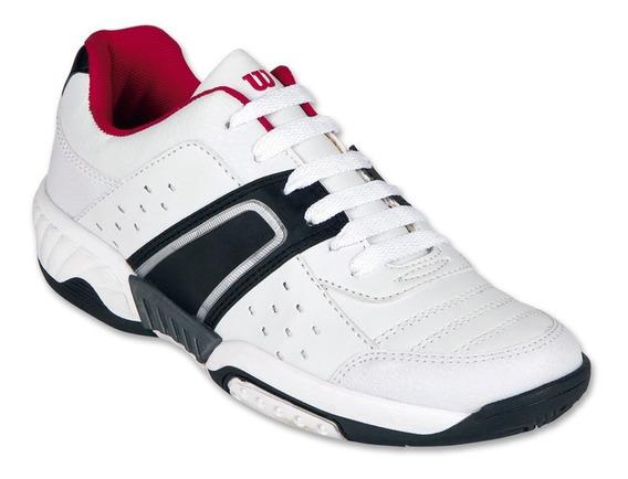 Calzado Juvenil Niño Tenis Deportivo Tipo Piel Blanco Comodo