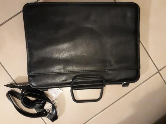 Portafolio Unisex Cuero Negro