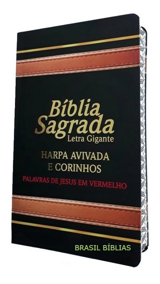 Bíblia Sagrada Letra Gigante Com Harpa Masculina / Feminina