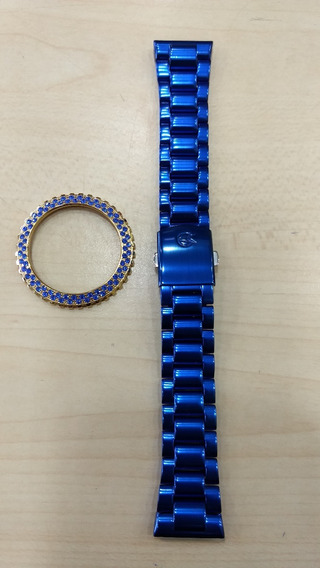 Kit Com 1 Pulseira E 1 Aro Azul Original Champion Original