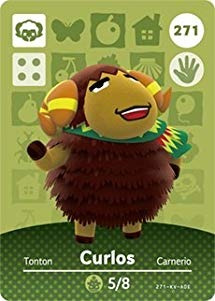 Curlos - Nintendo Animal Crossing Happy Home Designer Amiib