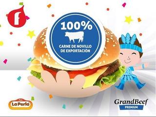 40 Hamburguesas 83g Parrilleras 100%carne+panes La Perla+ad