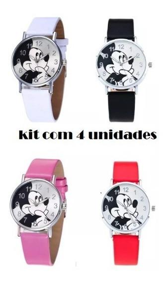 4 Relógios Do Mickey - Pronta Entrega