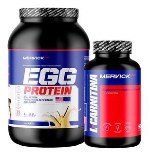 Egg Protein 1 Kg + Carnitina X 500mg.x 90 Comp Combo Mervick