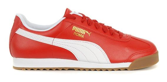 Tenis Puma Roma Basic Rojo/blanco/liga Originales