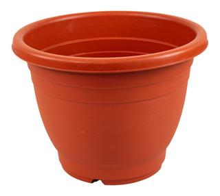 Maceta Plástico Jardín Plantas Rojo