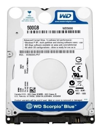 Hd 500gb Wd5000 Para Notebook Western Digital Lacrado Novo
