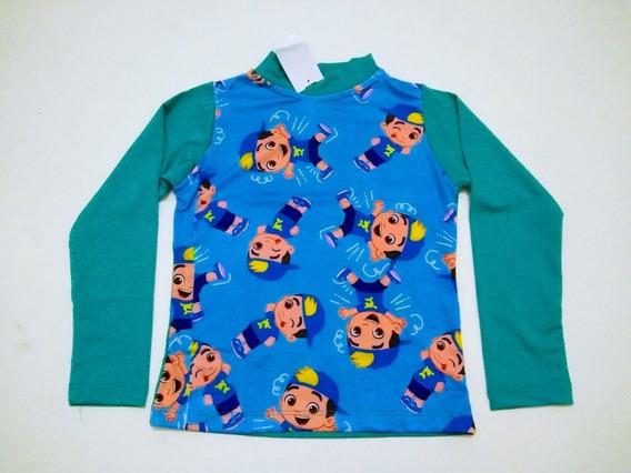 Blusa Camisa Proteção Uv50 Infantil Lucas Neto Baby Shark 2