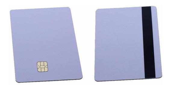 Cartão Smart Sle4442 Sle 4442 C/ Tarja Magnética - 50 Unid.