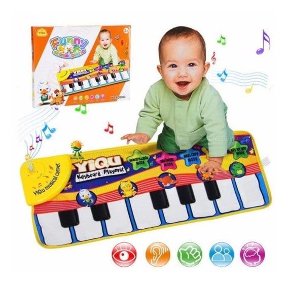 Piano Jogar Esteira Teclado Tapete