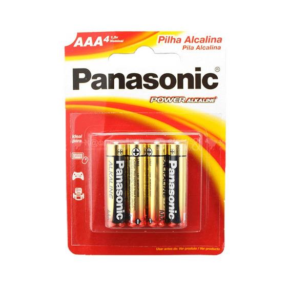 Pilha Alcalina Palito Aaa 4 Unidades - Panasonic 3 Packs