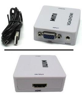 Conversor Vga A Hdmi Hd 1080p Adaptador Con Audio Tucuman