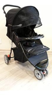 Carrinho 3 Rodas Triciclo De Bebê Preto Color Baby