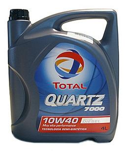 Aceite Total Quartz 7000 10w40 Diesel X4l