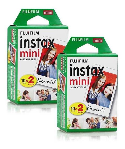 Filme Instax Mini Instantâneo Fujifilm - Kit 40 Fotos