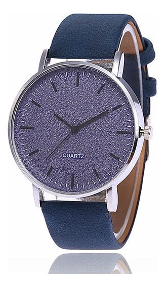 Relógio Unissex Fashion Matte Grande Mostrador Azul