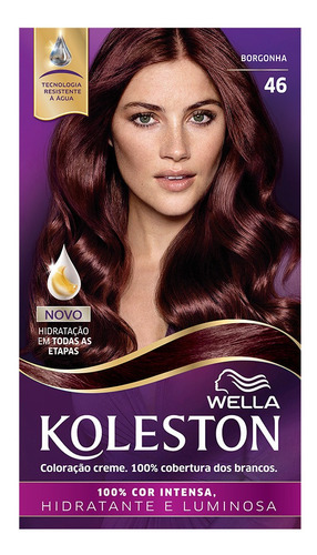 Coloração Creme Koleston Kit Borgonha 46