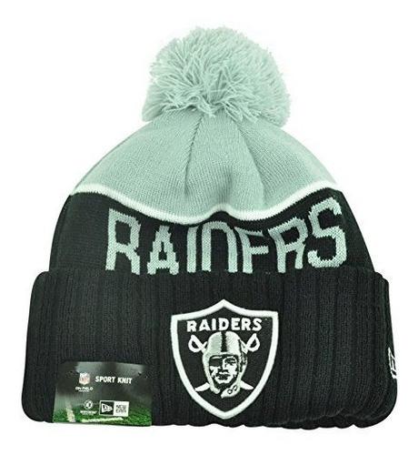 New Era Oakland Raiders Nfl Knit Beanie Negro Talla Única
