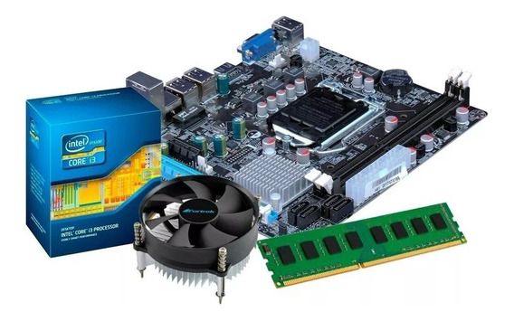 Kit Processador I3 3220 + Placa Mãe + 4 Gb Mem. + Cooler