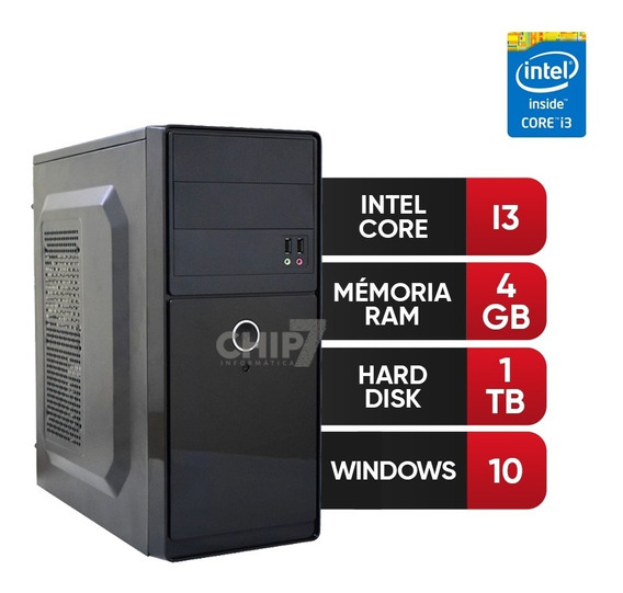Pc Intel Core I3,4gb Ram Ddr3,hd 1tb Frete Grátis!