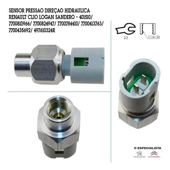 Sensor Pressao Direçao Hidraulica Renault Clio Logan Sandero