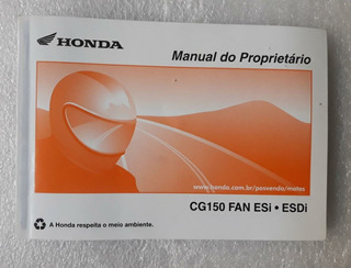 Manual Moto Honda Cg 150 Fan Esi Esdi 2011 2012 2013