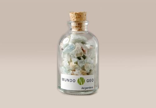 Colección En Vidrio Botella Con Berilo